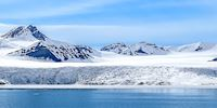 Glacial seascape panorama of Svalbard, Norway