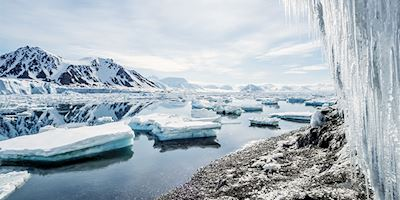 Ice landscape of Antarctica