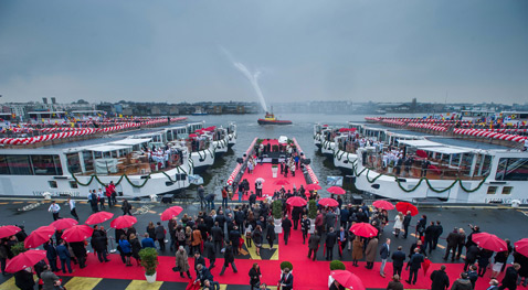 Viking christens 12 ships in Europe