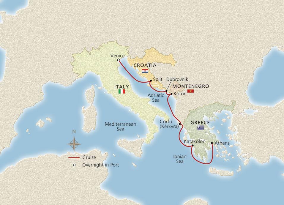 Venice The Adriatic Amp Greece Venice To Athens Cruise