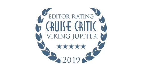 Cruise Critic Editor Rating Award for Viking Jupiter