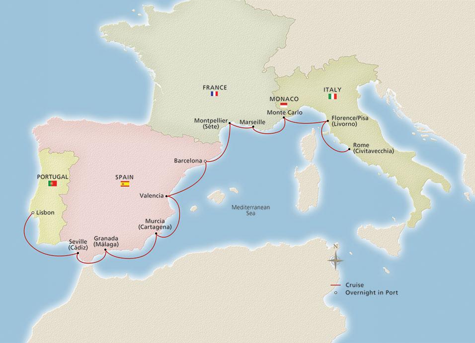 Western Mediterranean Explorer Ocean Cruise Overview | Viking on marseille italy, london italy, valencia italy, granada italy, ibiza italy, messina italy, vienna italy, geneva italy, mantua italy, athens italy, cologne italy, cartagena italy, seville italy, barcelona italy,