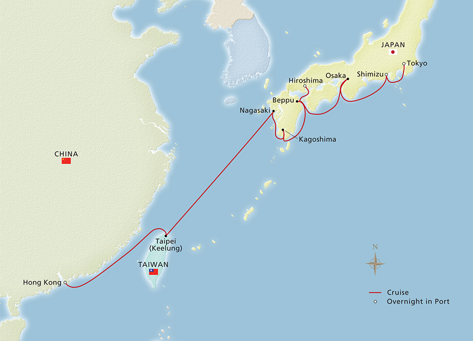 Map of Far Eastern Horizons itinerary