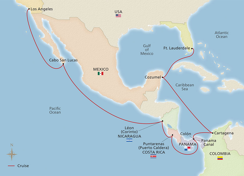 Map of the Panama Canal & Coastal Holiday itinerary