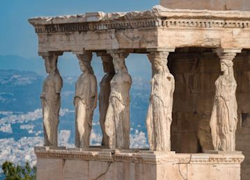 The Erechtheion Caryatids at the Acropolis, Athens