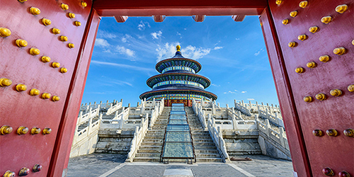 Gates of the Temple of Heaven in Beijing, China