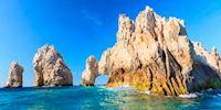 Rock arch in the ocean in Cabo San Lucas, Mexico