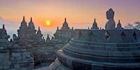 Borobudur temple in Java,Indonesia