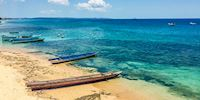 Boats on the beach ofKupang, Indonesia