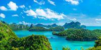 Aerial view of Mu Ko Ang Thong National Park in Thailand