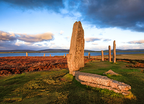 Standing stones on the Orkney Islands