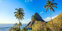 One of the Pitons mountains in St. Lucia