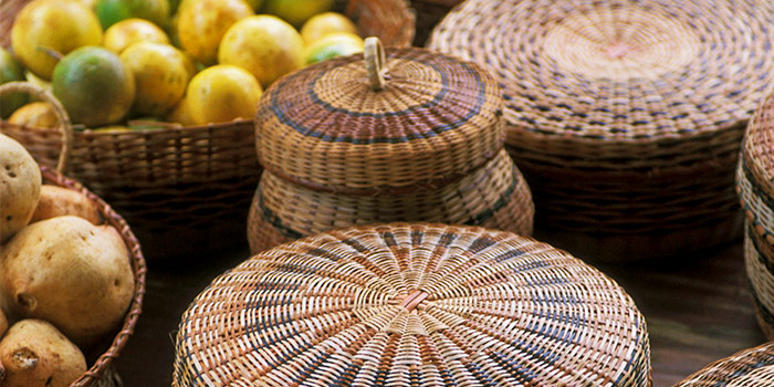 Caribbean Indian baskets