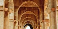Arches of the Hassan II Mosque in Casablanca, Morocco