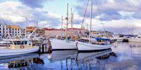 Victoria Harbor in Hobart, Tasmania