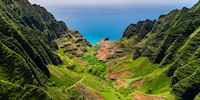 Aerial view of the Na Pali Valley