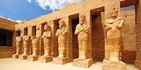 Karnak statues in Luxor