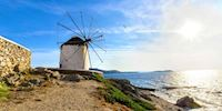 Windmill by the sea in Mykonos