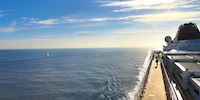 A view of the Pacific Ocean off the deck of a Viking ocean ship