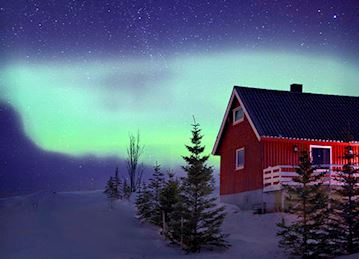 Home by Aurora Borealis in Tromso