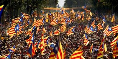 Catalonian independence parade
