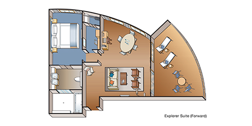 Explorer Suite floor plan (forward)
