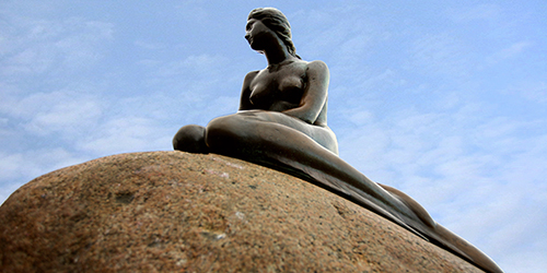 The Little Mermaid of Copenhagen, Denmark sculpture
