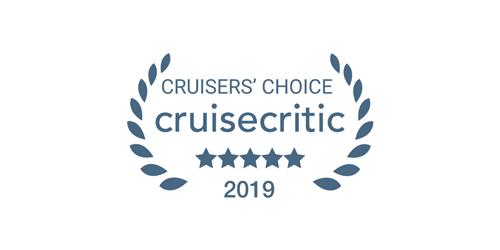Logo of the 2019 Cruise Critic Cruisers' Choice award winner