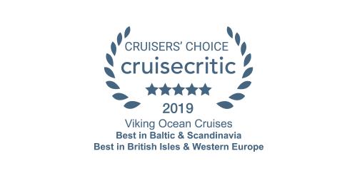 Cruise Critic Cruisers' Choice Award 2019 for Viking Ocean Cruises