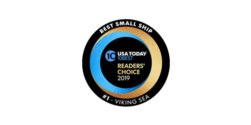 "USA Today 10BEST Readers' Choice 2019 ""Best Ocean Cruise Line"" Award logo"